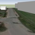 Vizualizace: pohled směr sever od křižovatky K Říčanům a Na parkáně